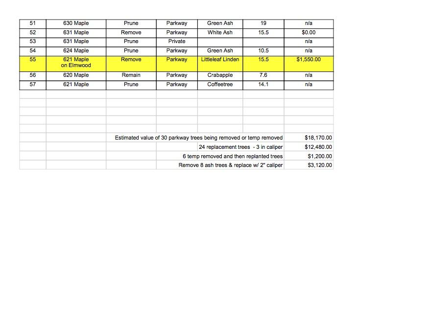 maple spreadsheet